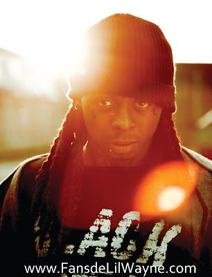 Imagen de Lil Wayne en la sesion fotografica del disco I Am Not A Human Being