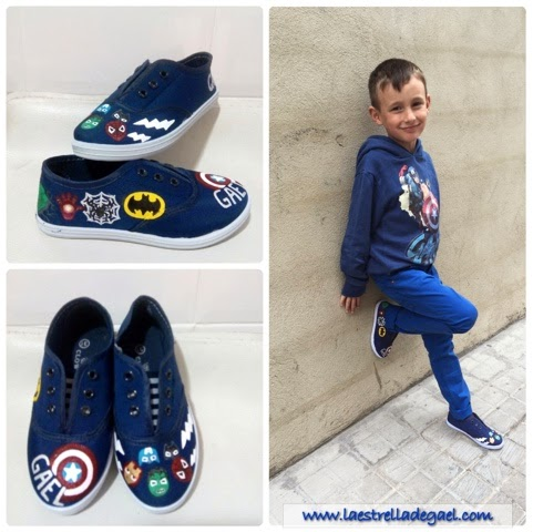 DIY zapatillas marvel