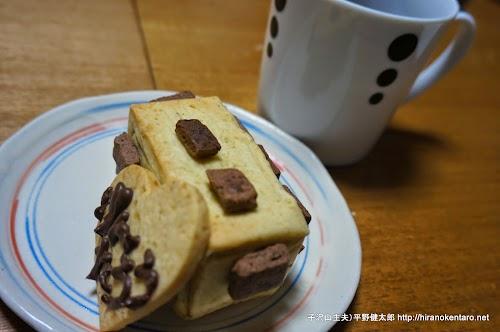 コーヒーと電車のクッキー