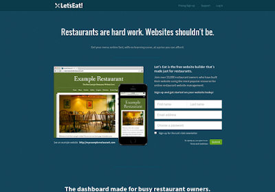 Letseat.at free online website builders