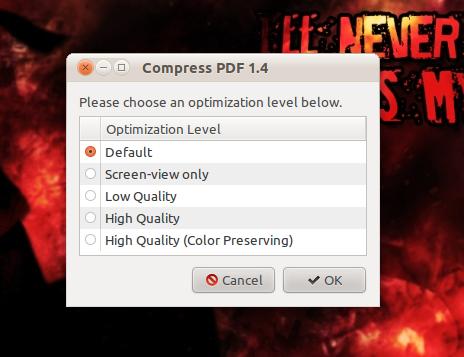 Compress PDF: Script untuk mengkompres file PDF
