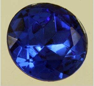Vintage Glass Sapphire Jewel Cabochon