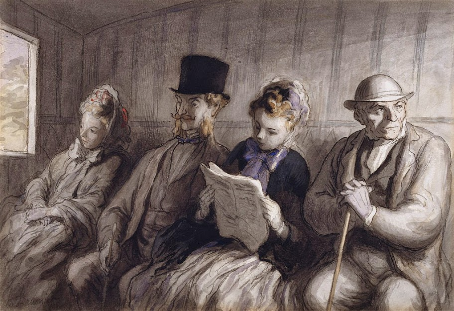 Honoré Daumier - The First Class Carriage