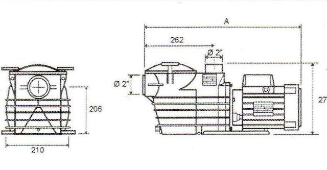 Cotes pompe Fiberpool 3/4 CV mono