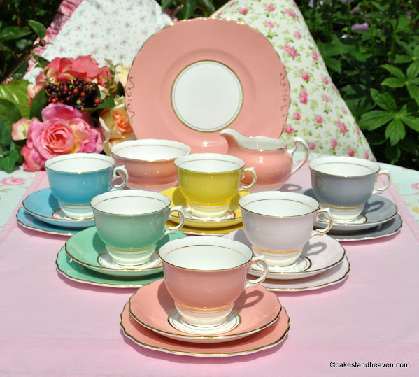 Colclough Harlequin Tea Set