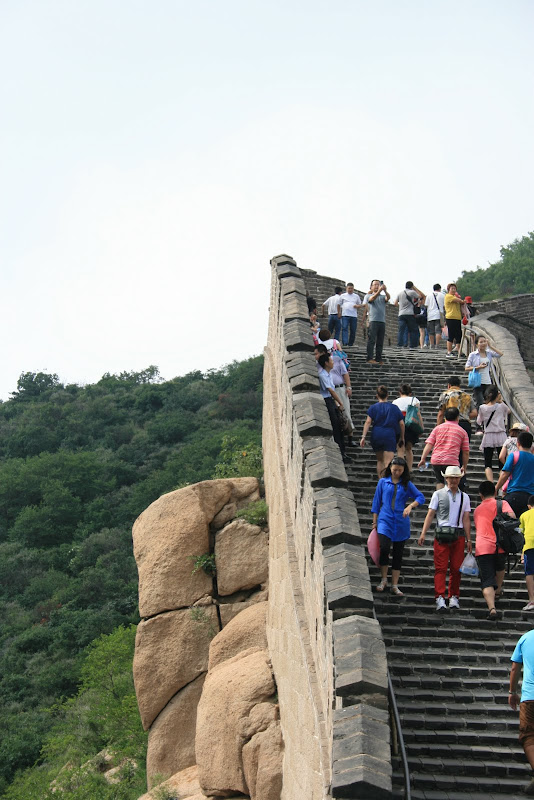 Tourists visiting The Great Wall