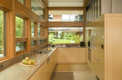 8 Дизайн интерьера деревянного дома в Вашингтоне, США ФОТО
