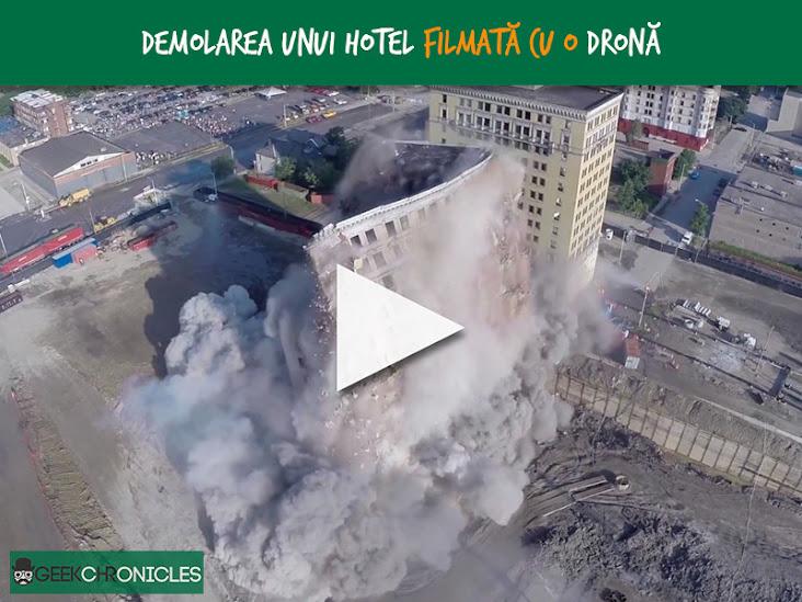 hotel demolition drone