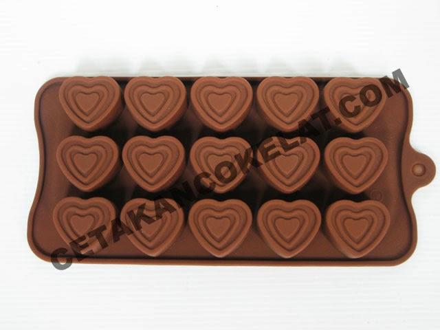 cetakan coklat love silikon SIL017 SIL17