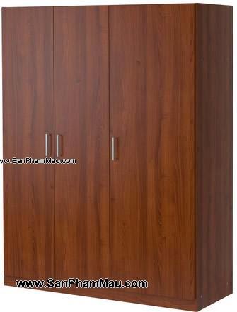 Tủ quần áo gỗ công nghiệp màu nâu