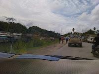 Lahad Datu,Sandakan Sabah,Jalan Assam Lahad Datu,lori tangki kelapa sawit