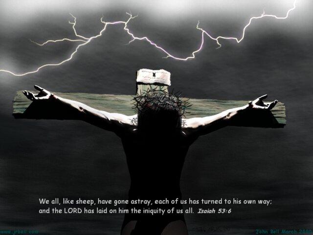Poput ovaca svi smo lutali i svaki svojim putem je hodio. A Jahve je svalio na nj bezakonje nas sviju. (Iz 53,6-7)