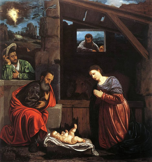 Giovanni Gerolamo Savoldo - Adoration of the Shepherds