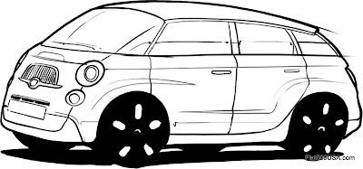 Fiat 500L design sketch 1