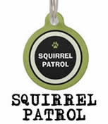 squirrel patrol 2 side dog id tag