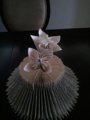 paper flower, book paper flower, tutorial,