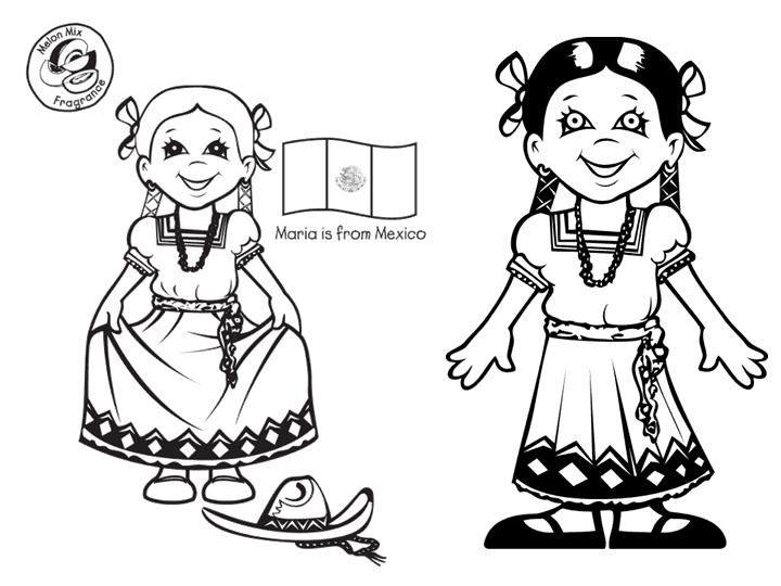 Mexican Clothing Coloring Page