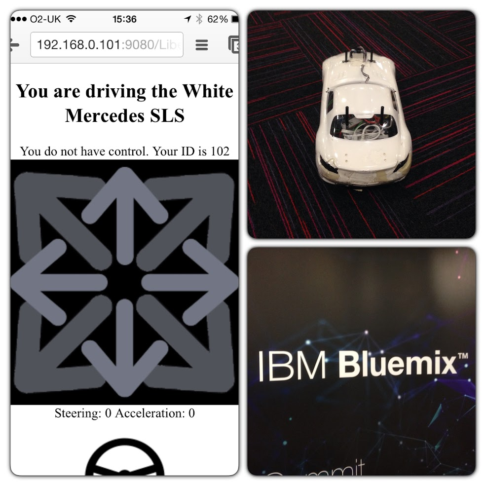 IBM Blue Mix Phone controlled car