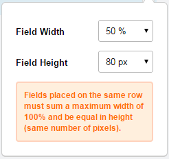 Field Height and Field Width