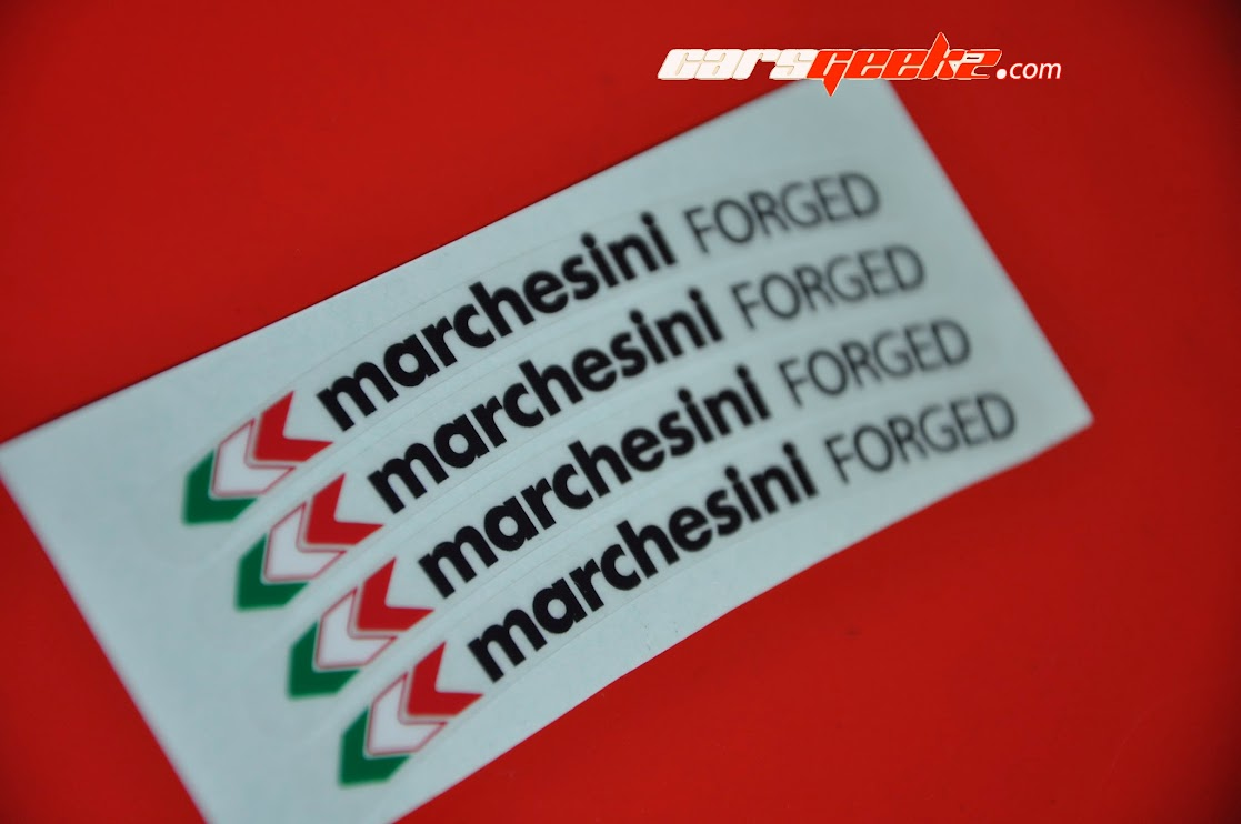 Marchesini Forged Black and Yellow sticker decal