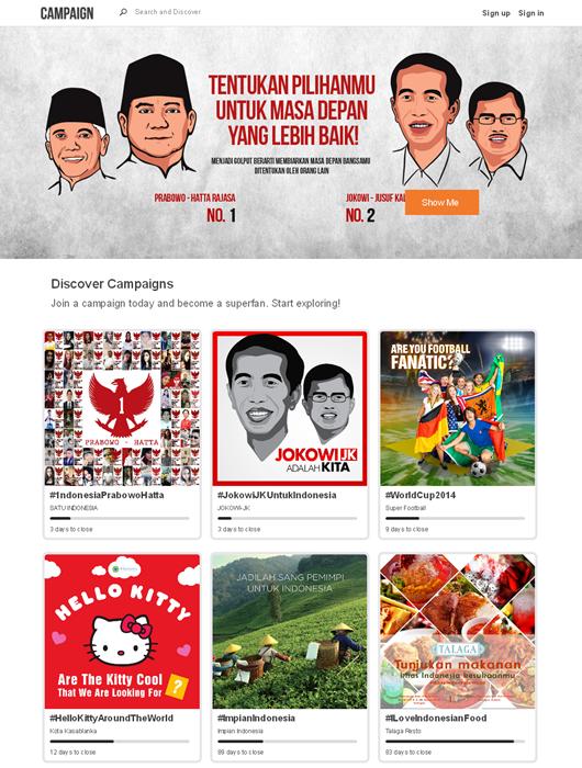 Prabowo/Hatta - Jokowi/JK