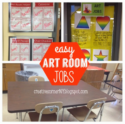 Creative Corner Easy Art Room Jobs And Cleanup