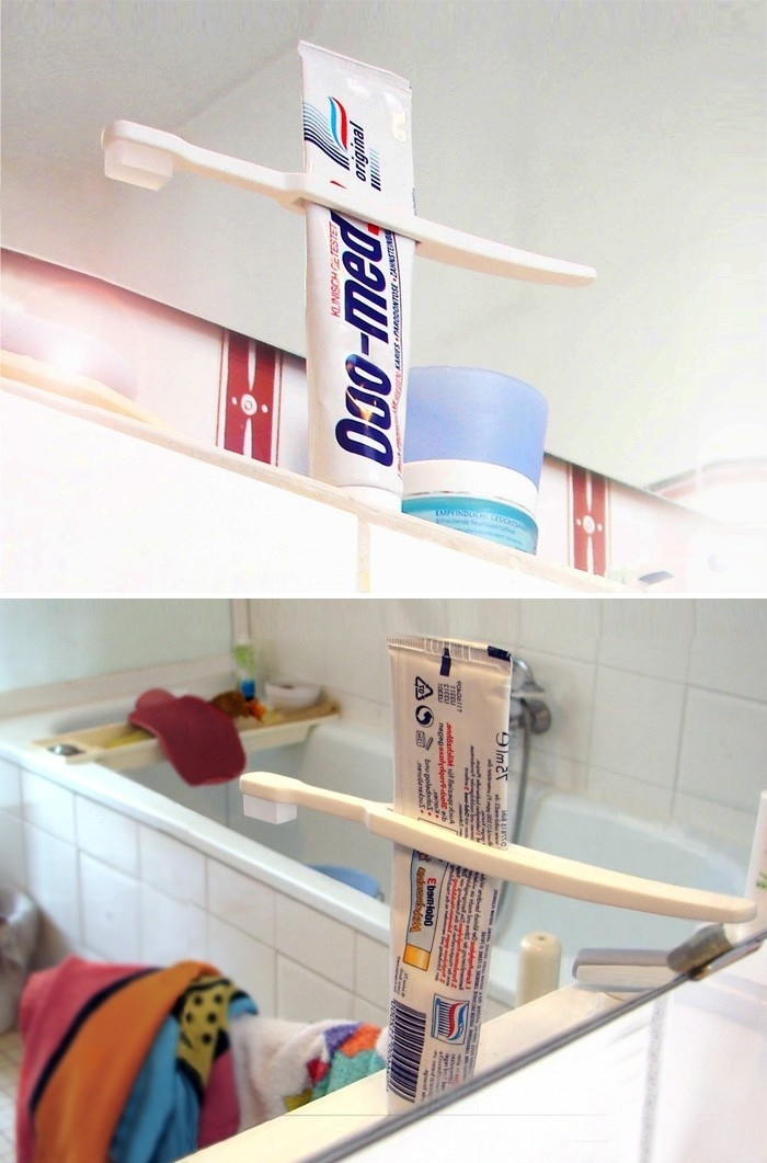 Toothbrush Squeezing Toothpaste
