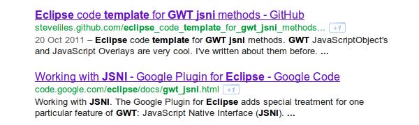 google search listing