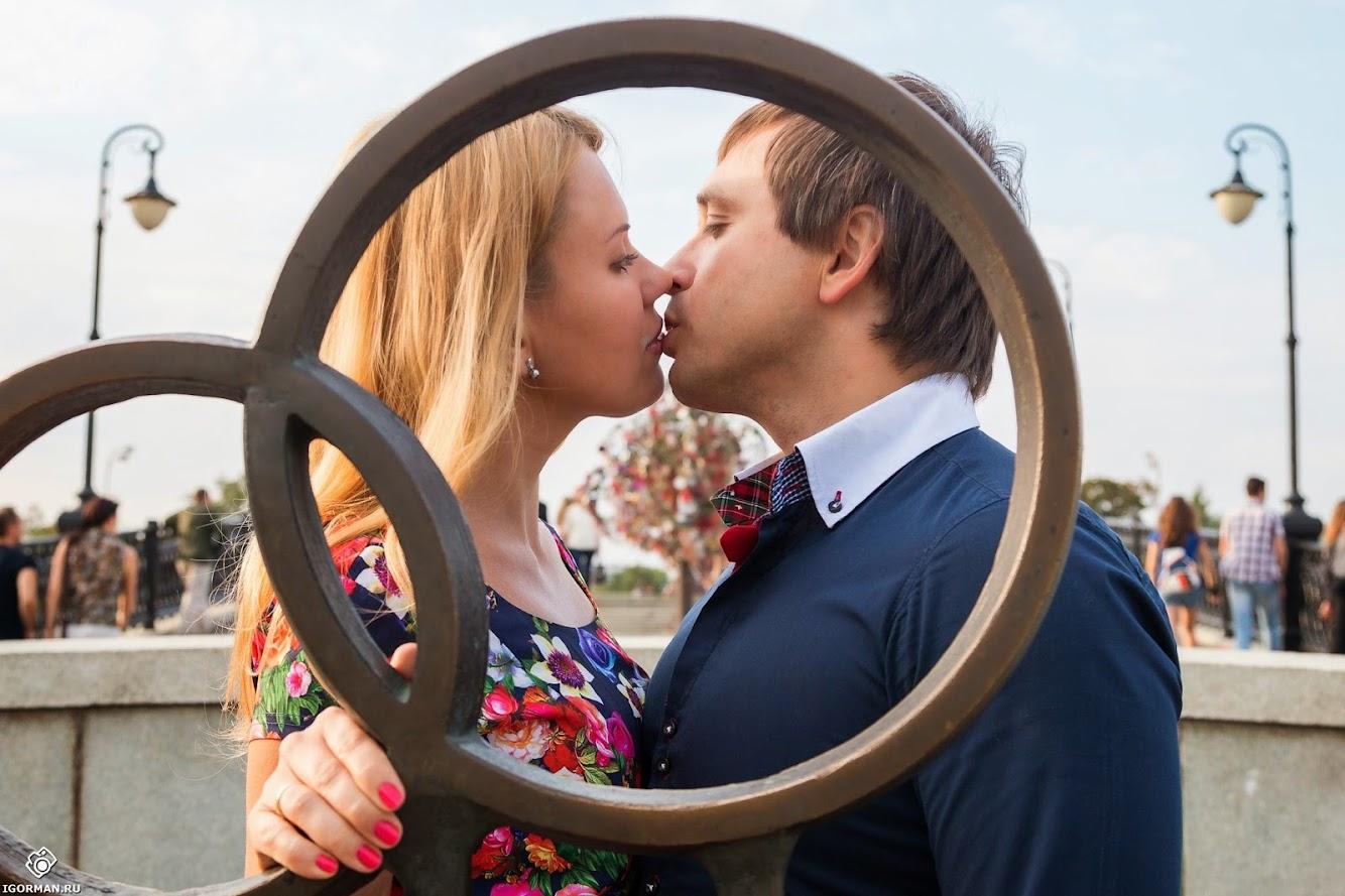 Фотосъемка Love Story на мосту влюблённых