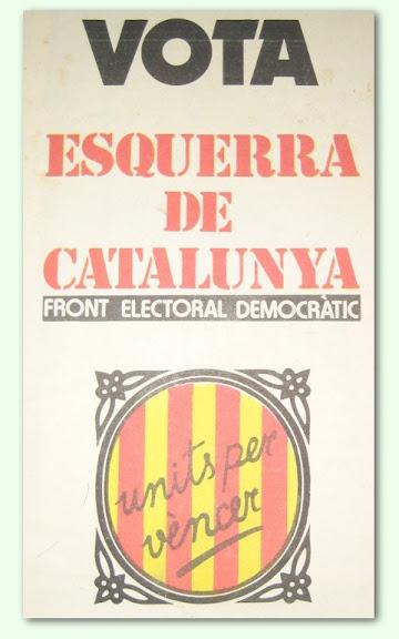 Propaganda Esquerra de Catalunya 1977