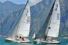 J/80 one-design sailboats- sailing in Italy