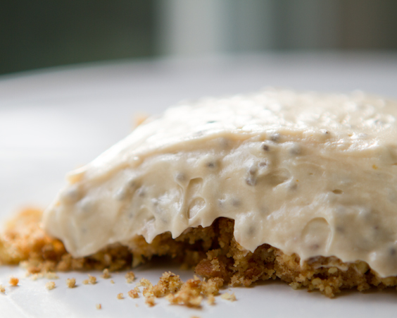 No-Bake Vegan Chia Cheesecake. Crumble Crust.
