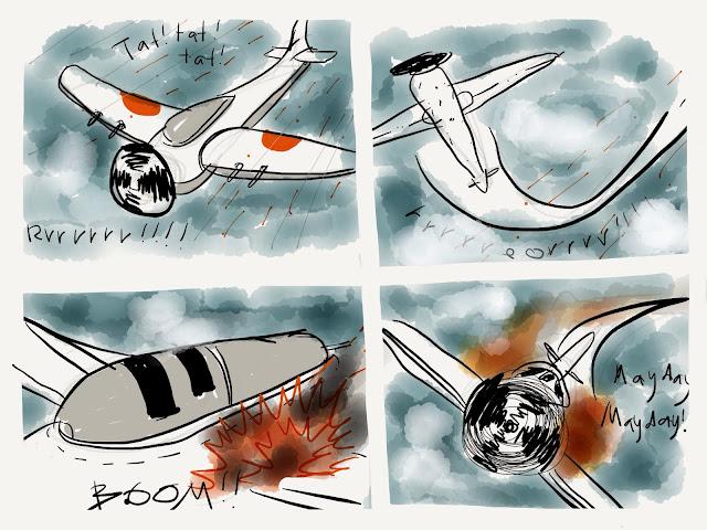 Ipad Paper Sketch Kapal Terbang