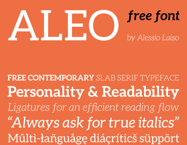 ALEO Free Fonts