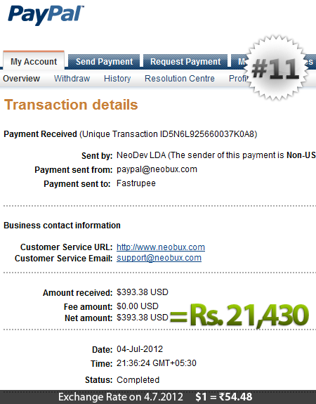 Neobux Payment Proof 11
