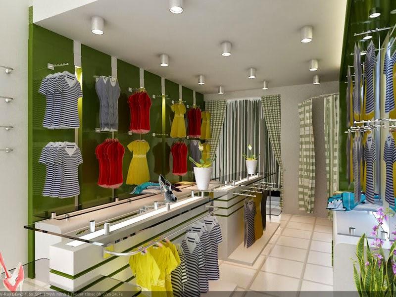 Trang trí cửa hàng thời trang 02