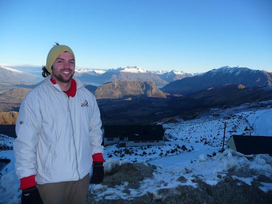Aquí estoy yo en Coronet Peak, Queenstown en Nueva Zelanda con un poquito de frío