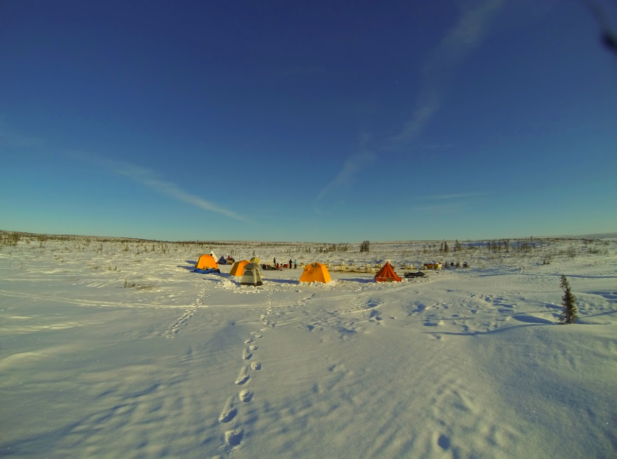 Arctic camping at Jimmy Lake