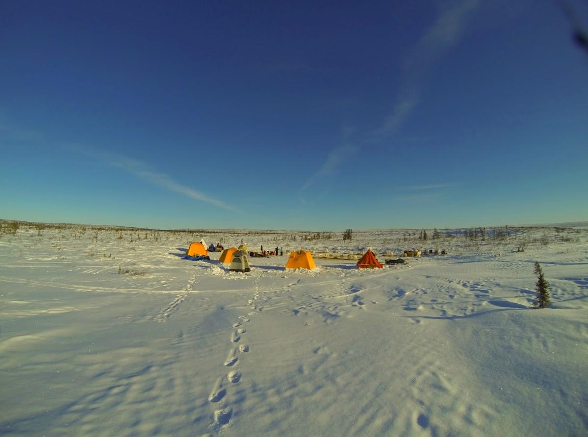 Arctic camping at Jimmy Lake