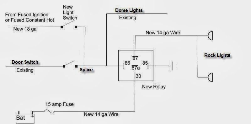 Rock light wiring schematic Jeep Wrangler Forum