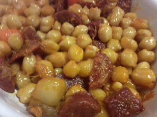 Garbanzos Con Chorizo Al Estilo Ropa Vieja