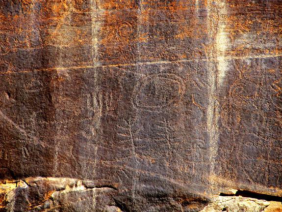 Repatinaed petroglyphs
