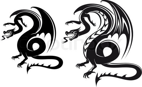balck dragon tattoo designs