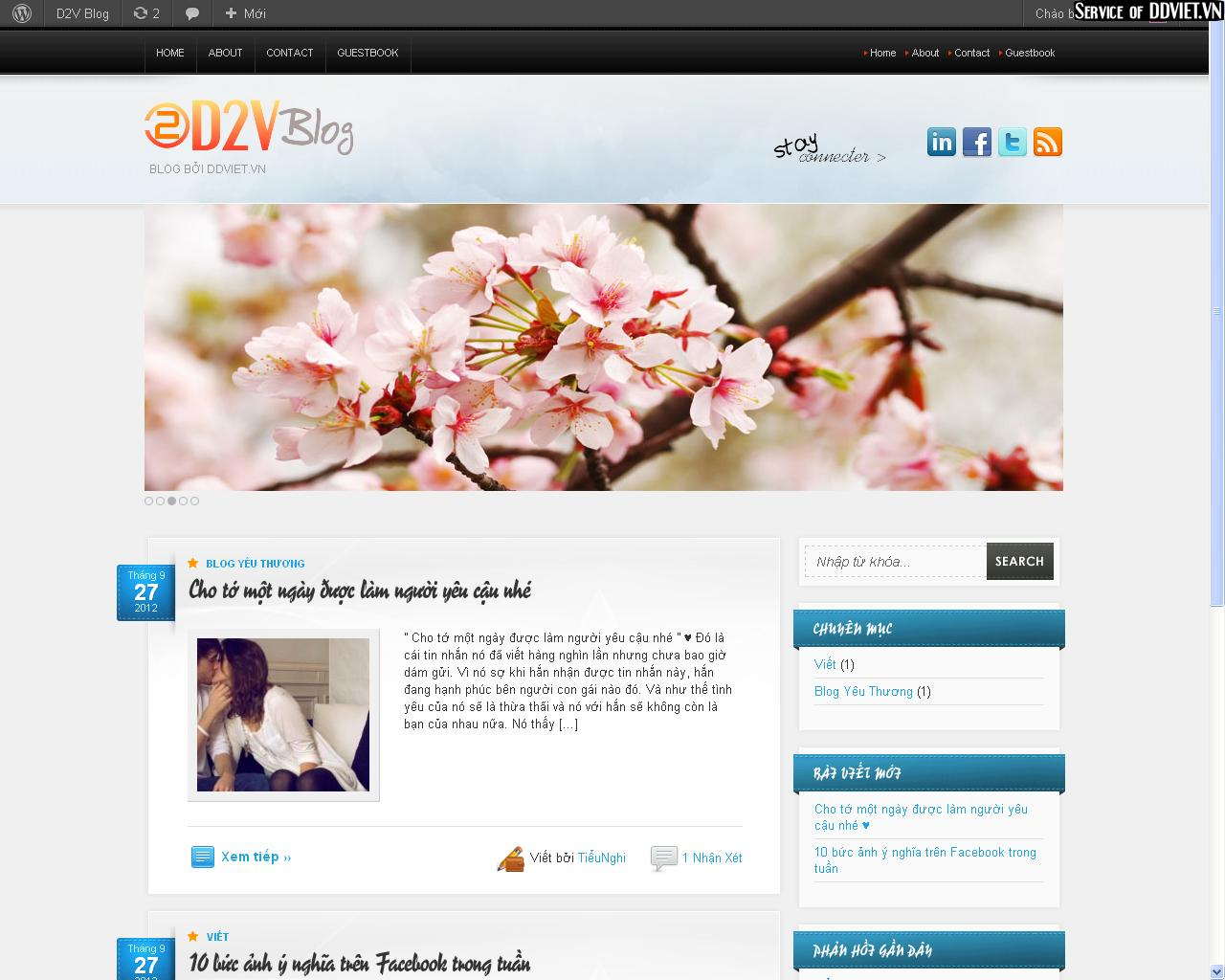 DDVIET.VN screenshot - Share code Blog Wordpress đẹp