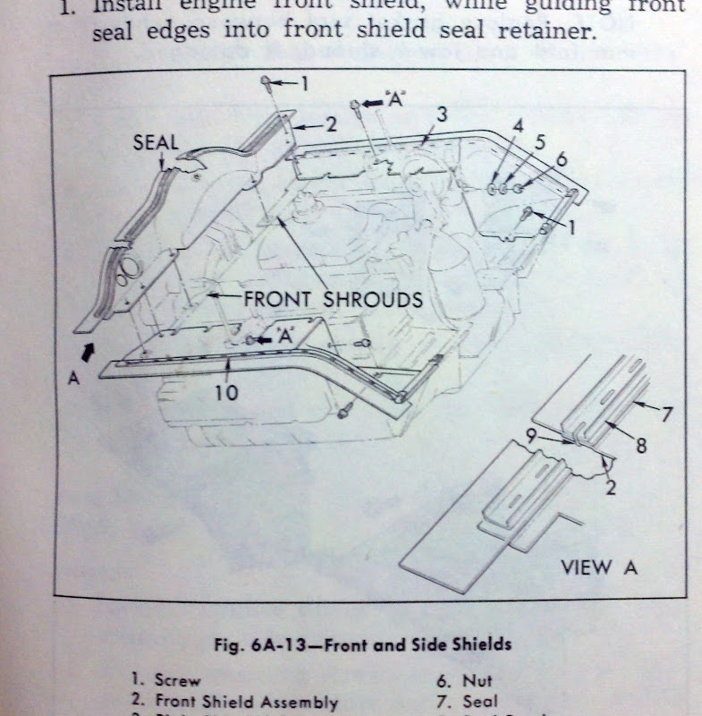 Engine seal width | 1965 Corvair Engine Diagram |  | Corvair Center