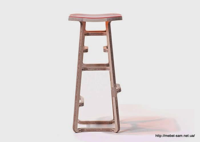 Фанерный барный стул - легкая и прочная конструкция