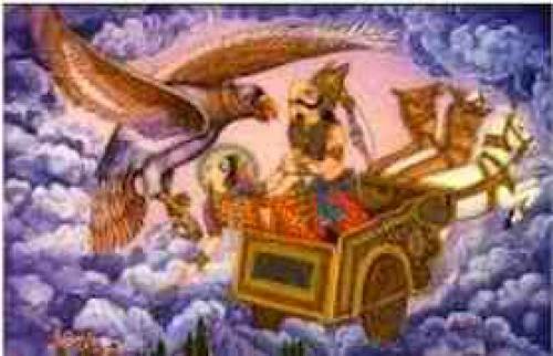Ravan Flying Chariot Pushpak Viman