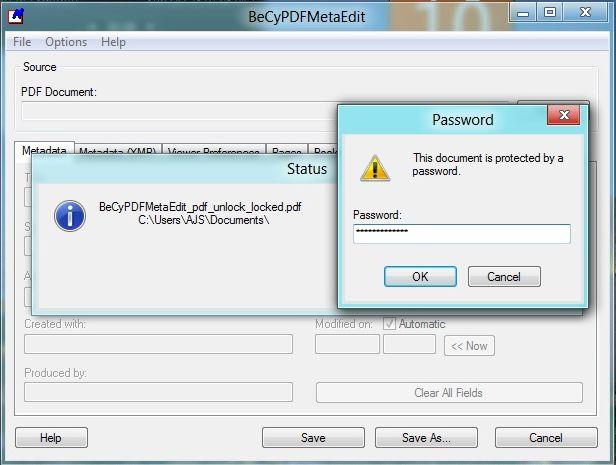 BeCyPDFMetadata running 2