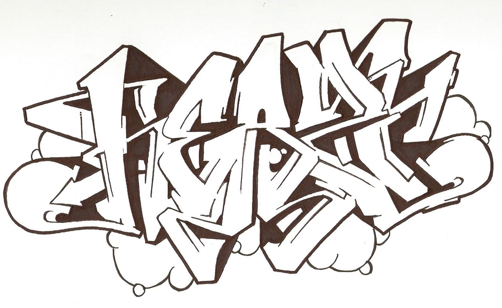 AFRO==============: Graffiti Sketch