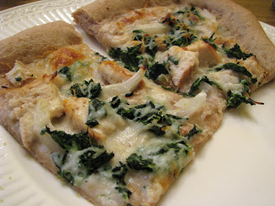 chicken and spinach pizza